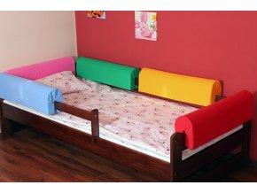 Chránič na postel růžový