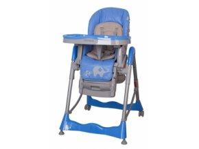 Jídelní stoleček Coto baby Mambo modrý Sloníci