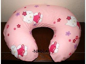 Kojící polštář Kitty růžová