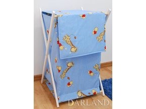 Koš na prádlo Žirafy modré