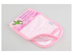 Koupací žínky rukavice 2ks - růžová