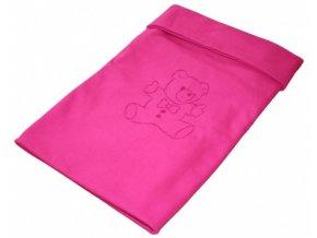 Letní deka bavlna s výšivkou 80x100 cm Fuchsie Emitex
