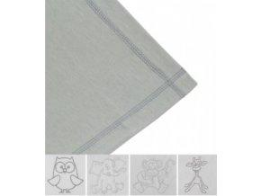 Letní deka bavlna s výšivkou 80x100 cm Šedá Emitex