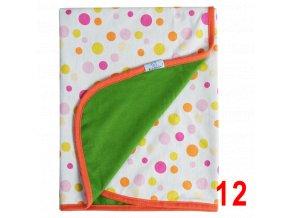 Letní deka Ines 75x100 zelená s puntíky Baby Matex