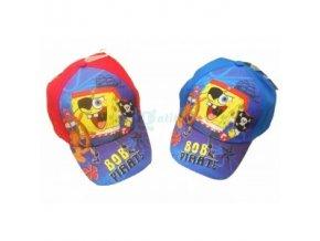 Licenční kšiltovka Sponge Bob červená rozm.54