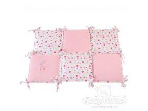 Multifunkční chránič - 6 malých polštářků Best Friend růžový