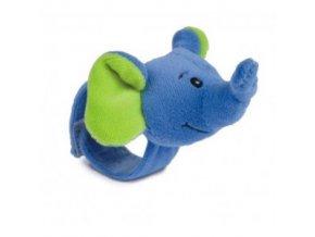 Plyšové chrastítko na ruku slon