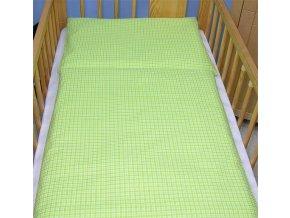 Povlečení do postýlky kostička zelená 135x100