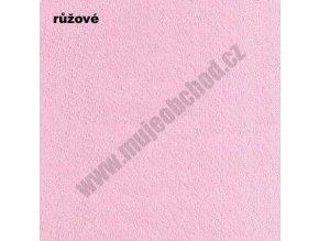 Darland Prostěradlo froté růžové 140x70