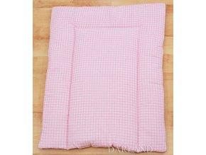 Přebalovací podložka kostička růžová nová