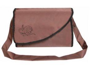 Přebalovací taška Kate s kapsami hnědá Emitex