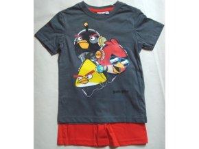 Pyžamo Angry Birds antracit/červené 140/ 10 let