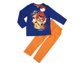 Pyžamo Angry Birds BOOM dlouhý rukáv modro/oranžové  8let (128)