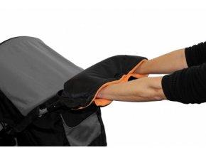Rukávník ke kočárku černý/oranžový Emitex