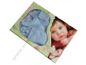 Souprava do porodnice s výšivkou 5-dílná modrá