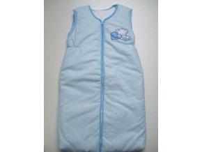 Elan Luxusní spací vak s výšivkou modrý