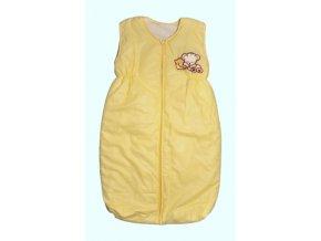 Elan Luxusní spací vak s výšivkou žlutý