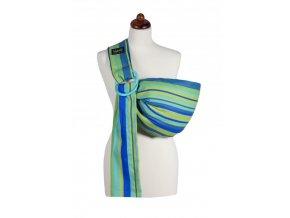 Šátek Womar Zaffiro Hug me pruhy modro zelené