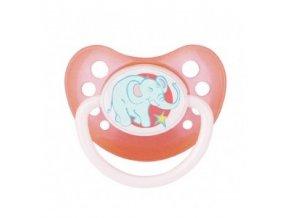 Šidítko anatomické silikonové ZOO růžové