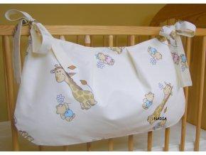 Taška na postýlku Žirafy krémové