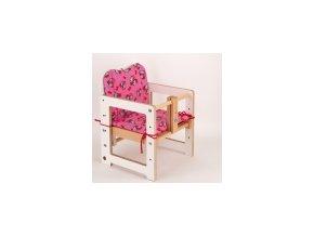 Textilní vložka do jídelní židličky růžová