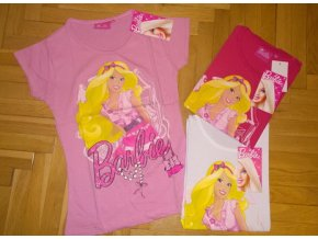 Tričko Barbie malinové 128