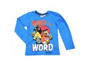 Tričko s dlouhým rukávem Angry Birds 122/128 modré
