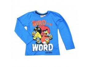 Tričko s dlouhým rukávem Angry Birds 146/152 modré