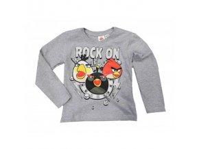 Tričko s dlouhým rukávem Angry Birds šedé 110/116