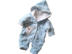 Zimní kombinéza - chlupatka modrá vel. 56-62