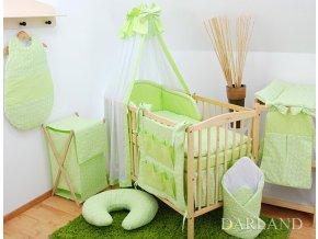 Dětská postýlka - zelené provedení