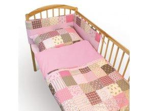 Baby Matex 3-dílná sada Patchwork pink