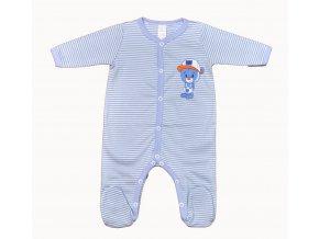 Overálek Medvídek Baby modré proužky vel.62