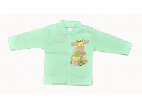 Bavlněný kabátek Žirafka s medvídkem máítový  vel.56
