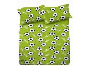 Dětské povlečení 140x200,70x80 Fotbal zelený