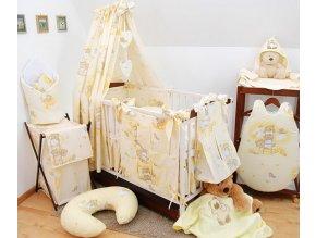 Dětské povlečení na polštář a přikrývku - medvídci na žebřících krémoví provedení