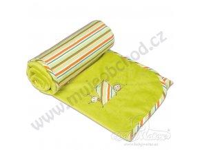 Baby Matex Dětská deka LOVE zelená velká 100x140