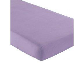 Nadia Prostěradlo bavlněné fialové 120x60