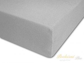 Darland Prostěradlo bavlněné šedé 120x60