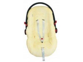 Emitex Potah na autosedačku - bambus žlutý