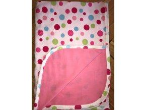 Letní deka Ines 75x100 meruňkově růžová s puntíky Baby Matex