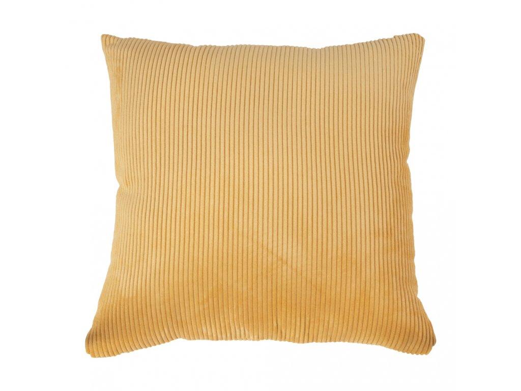 Žlutý manšestrový polštář Reja