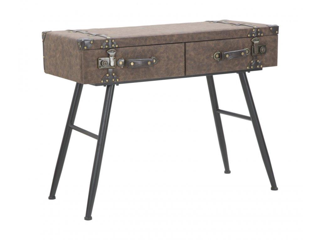Hnědý konzolový stolek Mauro FerrettiTrunk 90x40x80 cm