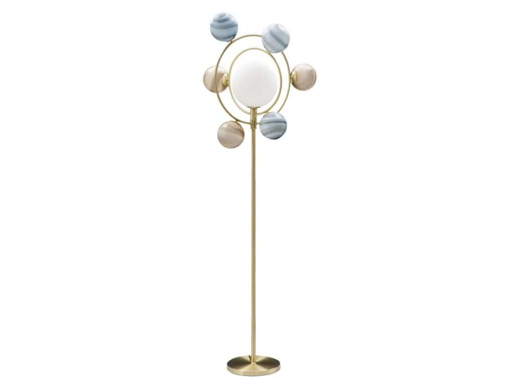 Vícebarevná stojací lampa Mauro Ferretti Planets 7 svítidel, 80x50x195 cm