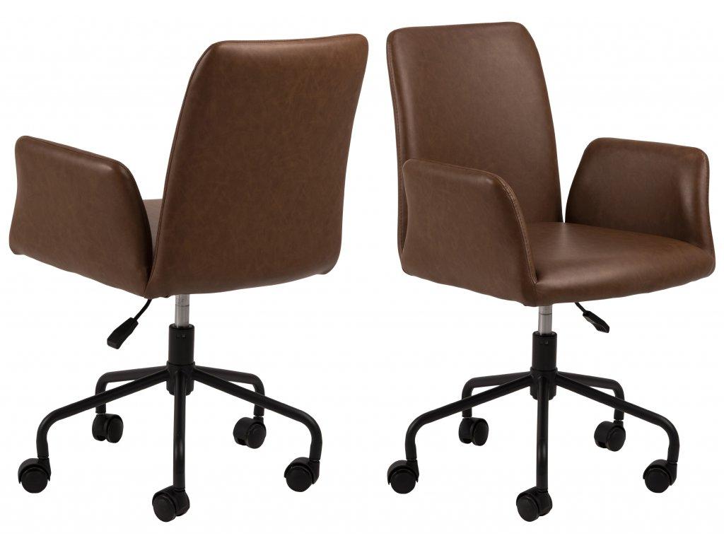 pic serv12 PhotoManagerPublicMasters Products 0000089770 naya desk chair leather look retro brandy pu691 b 5star pc rough matt black soft castors orig