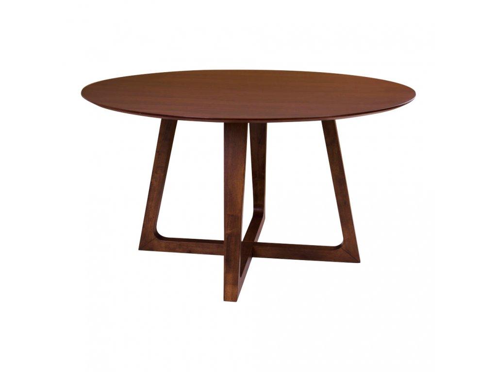 Kulatý jídelní stůl Marry z pravé ořechové dýhy