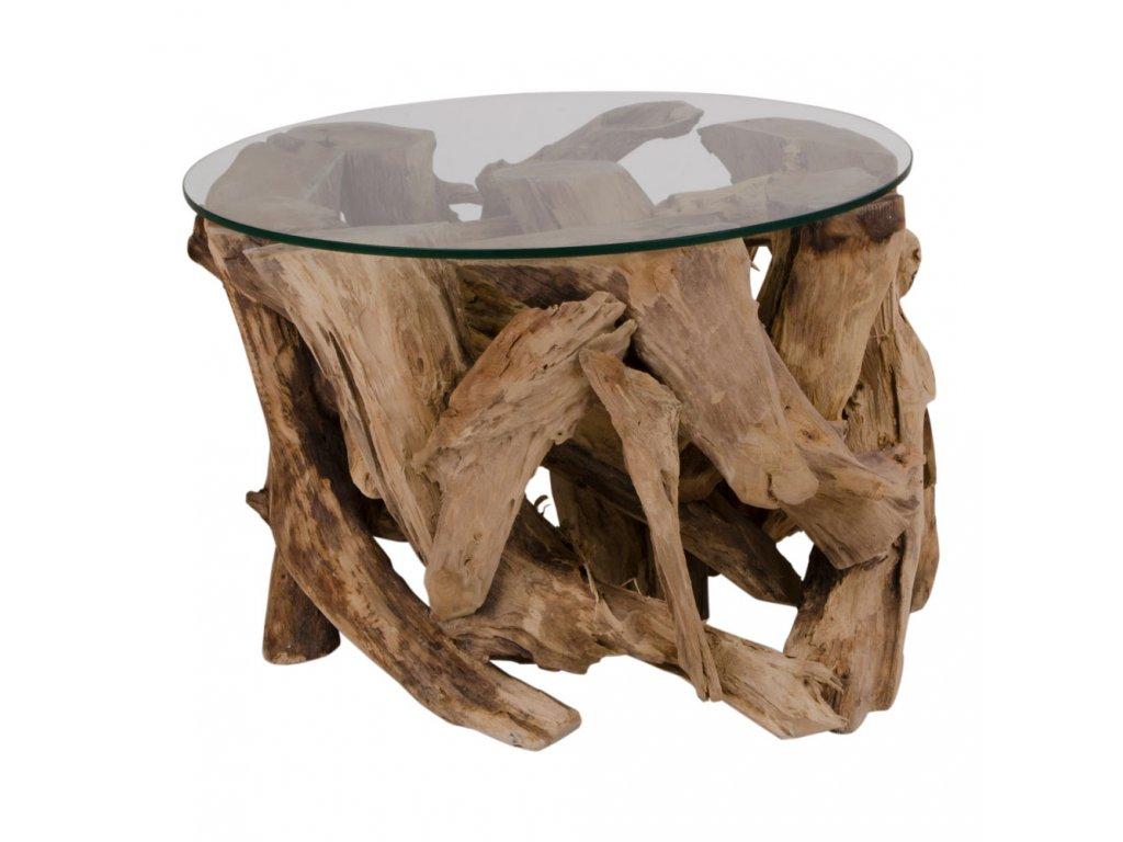 Masivní konferenční stolek Grandia teak 60 cm