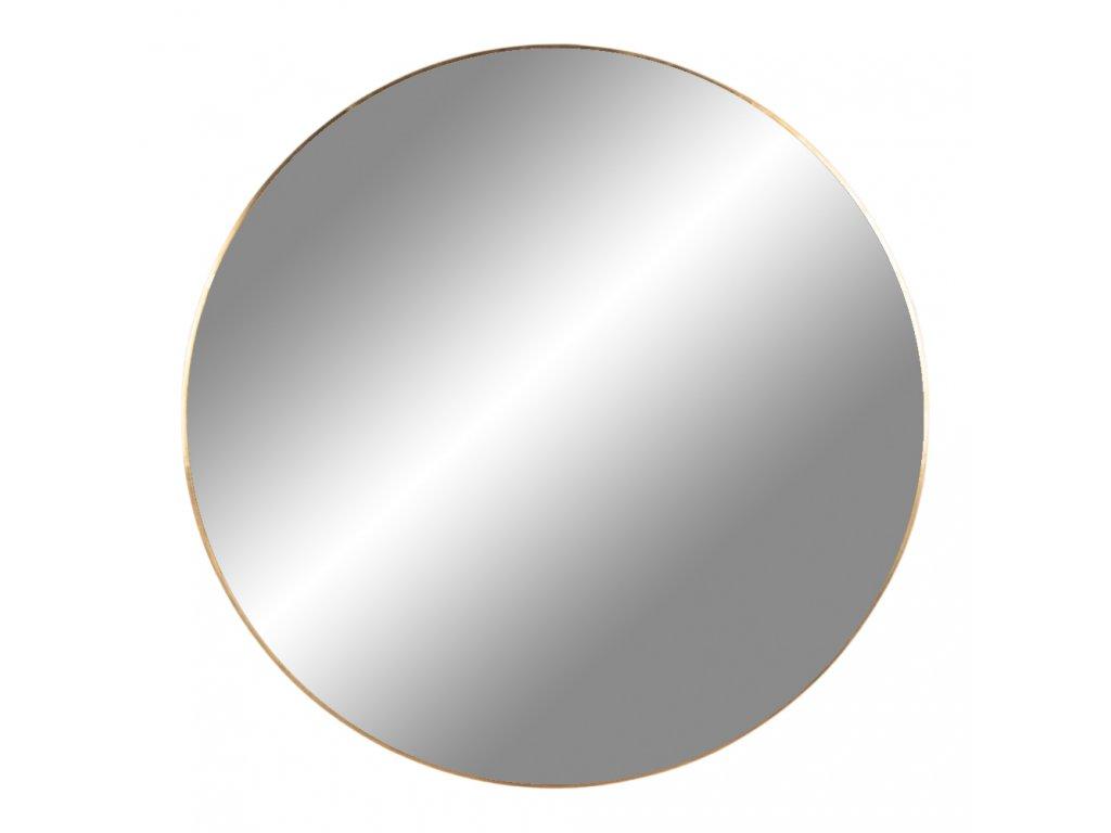 Mosazné nástěnné zrcadlo Jarrko 80 cm