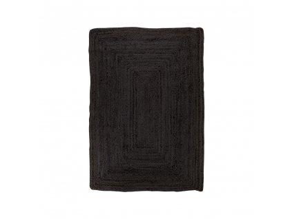 Tmavě šedý koberec Ramiko z pletené juty 90x60 cm