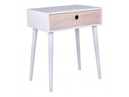 Bílý/přírodní noční stolek Macy